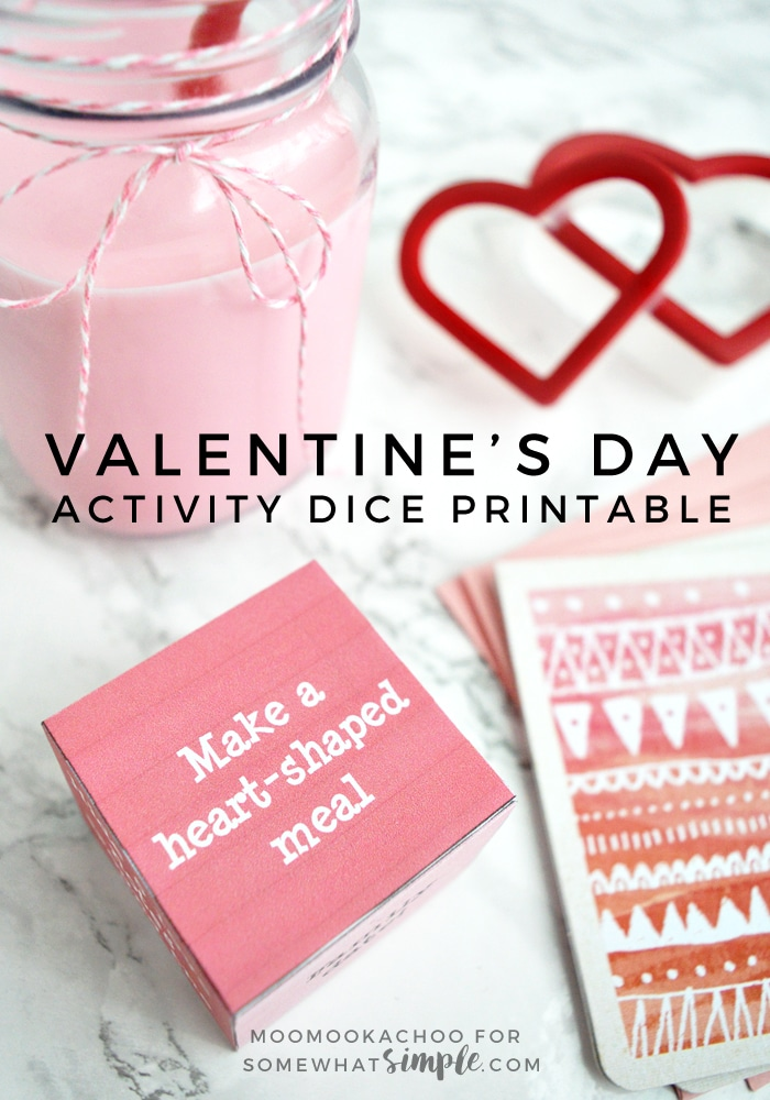 Valentine's Day Activity Dice - Print off this simple but fun activity dice for some family Valentine's Day fun!