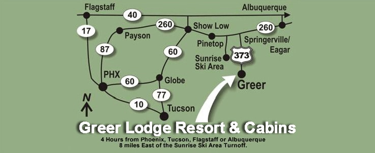 a map to greer, az