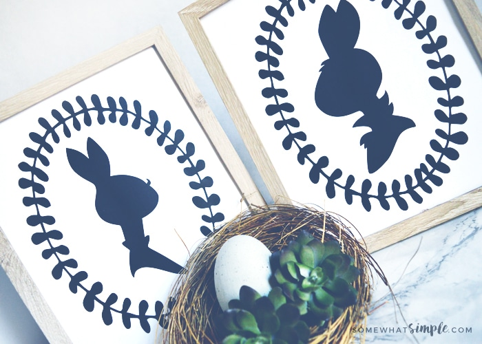 Mr + Mrs Bunny Printable Silhouettes