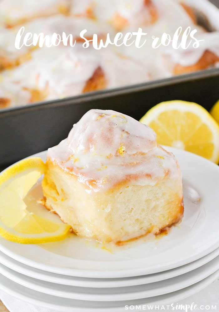 These light and fluffy lemon sweet rolls are so delicious and packed with lemon flavor. They're perfect for a weekend brunch or an indulgent dessert! via @somewhatsimple