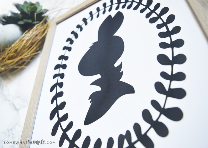 Mr Mrs Bunny Printable Silhouettes