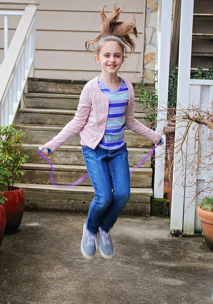 a girl jumping rope