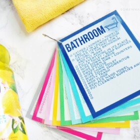 printable cleaning checklist cards main