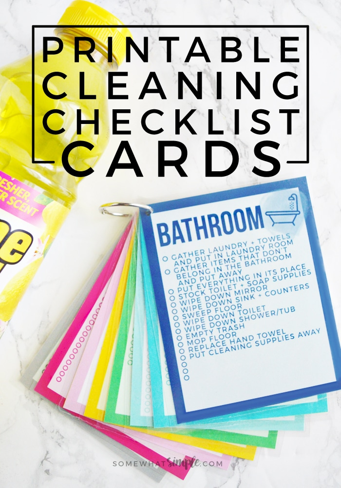 household cleaning schedule printable