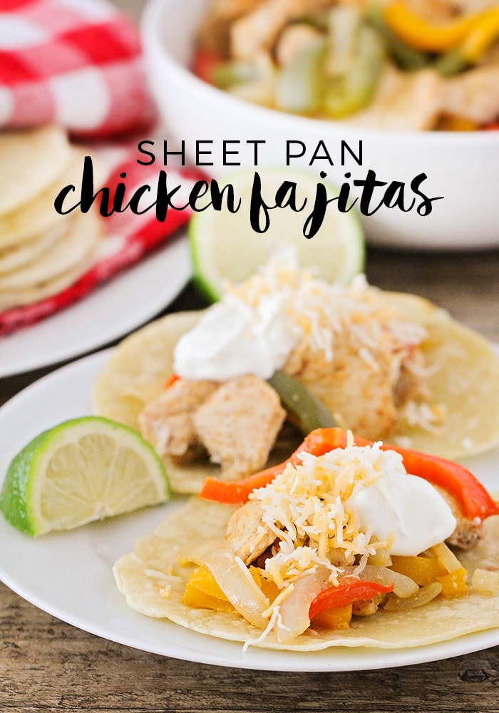 Sheet Pan Chicken Fajitas Recipe - An Easy, Tasty Dinner ...