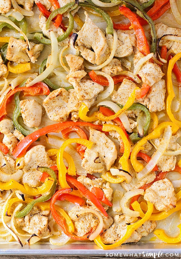Sheet Pan Chicken Fajitas Recipe - An Easy, Tasty Dinner ...