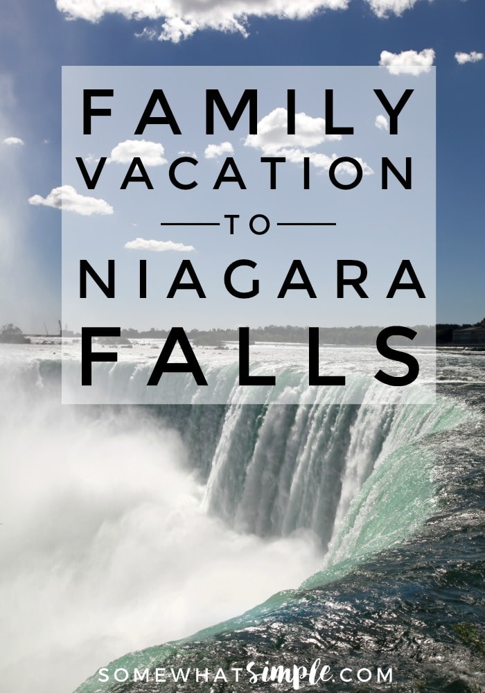 Niagara Falls is no longer just for honeymooners and convention attendees! It's now one of the preferred travel destinations for families from around the globe. Here are some helpful tips on how to plan the perfect family vacation to Niagara Falls, Canada! #niagarafallsvacation #niagarafallsfamilyvacation #traveltips #avgeek #bucketlist #vacationidea via @somewhatsimple