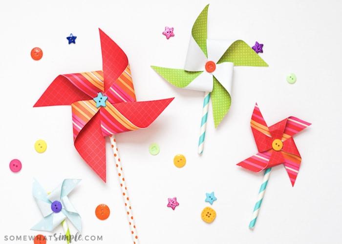Paper Pinwheels – Spring/Summer Craft for Kids