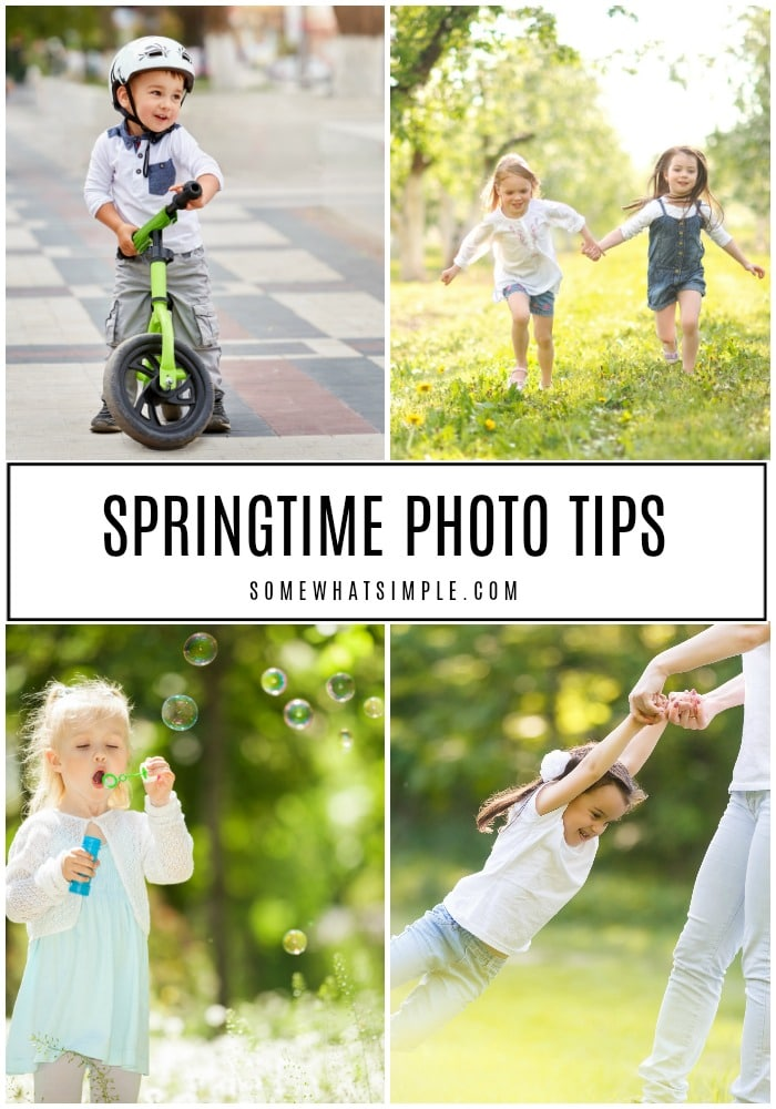 5 simple springtime photo tips for capturing outdoor photos of the little people in your life this Spring! #photography #spring #phototips #takebetterpictures via @somewhatsimple