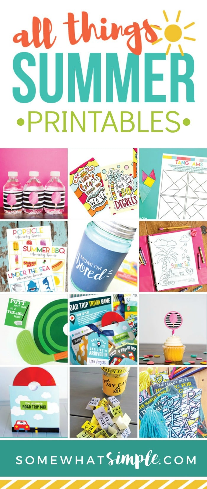 16 bloggers and designers have created the ULTIMATE Summer bundle, jam packed with fun and useful summer printables!