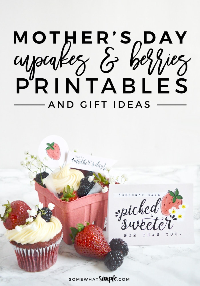 If you're looking for a sweet + simple Mother's Day gift, we've got you covered! These adorable Mother's Day Gift Printables will help you tell the moms in your life just how much you love them! #MothersDay #Gift #CupcakeGiftIdea #Printable #MothersDayCard via @somewhatsimple