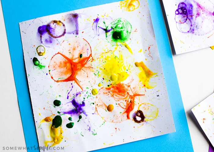 Create some really fun art prints with bubble painting! Grab the kids, some bubbles, and your favorite paint colors to make this colorful craft project!