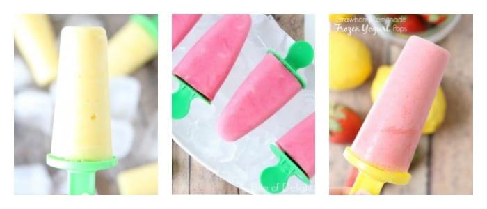 Strawberry Basil Frozen Yogurt Pops 6