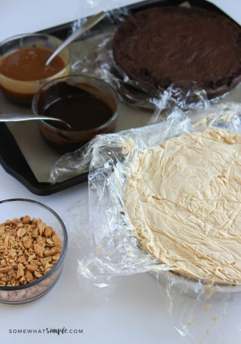 ingredients for snickers ice cream pie