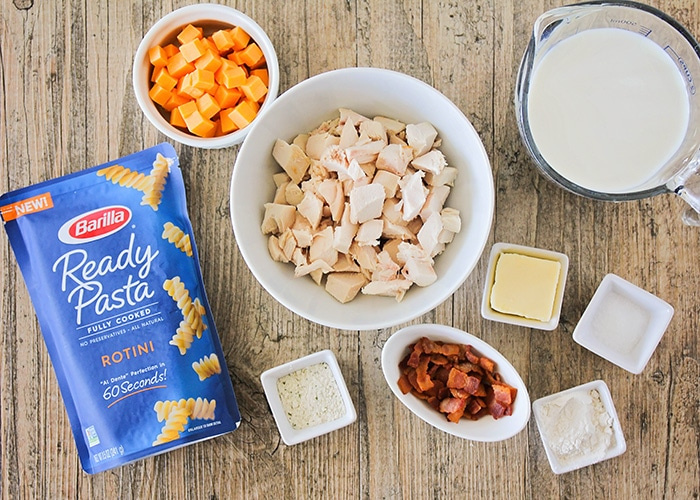 This delicious chicken bacon ranch pasta is ready in just 15 minutes and so easy to make! Plus, check out our three favorite tips to make mealtime easier!