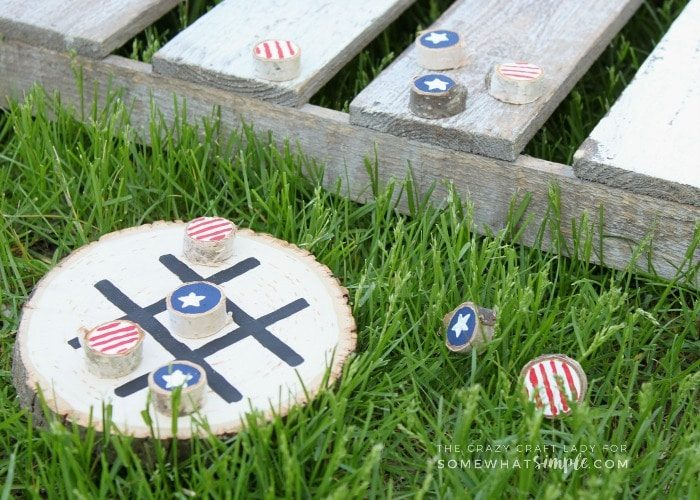 Make Your Own Tic Tac Toe Board – Stars and Stripes Tic-Tac-Toe Game
