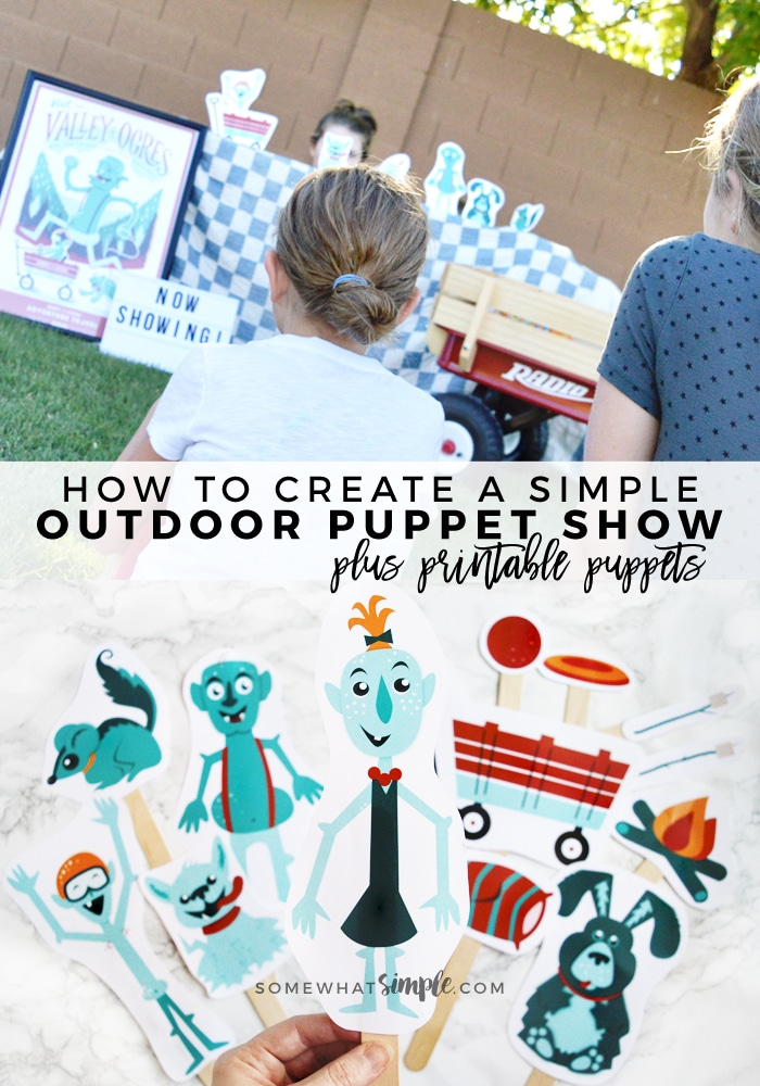 Get back to basics with this Simple Outdoor Puppet Show! And our bright and darling printable puppets will have kids using their imaginations for hours!