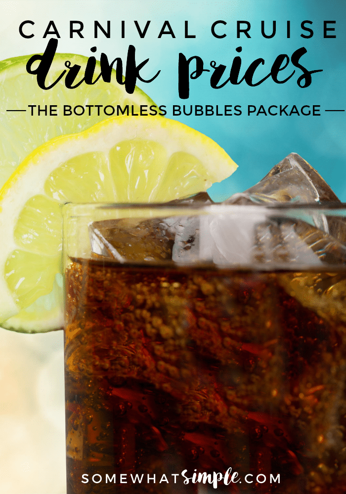 Everything you need to know about Carnival Cruises Bottomless Bubbles Drink Package  Lemonade & milk are included in your cruise fare, but what about sodas & juices? All of your questions are answered here via @somewhatsimple