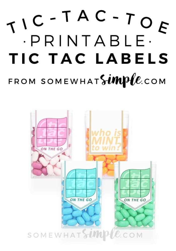 These Tic Tac Toe labels make a fun little game for your next road trip or vacation! via @somewhatsimple