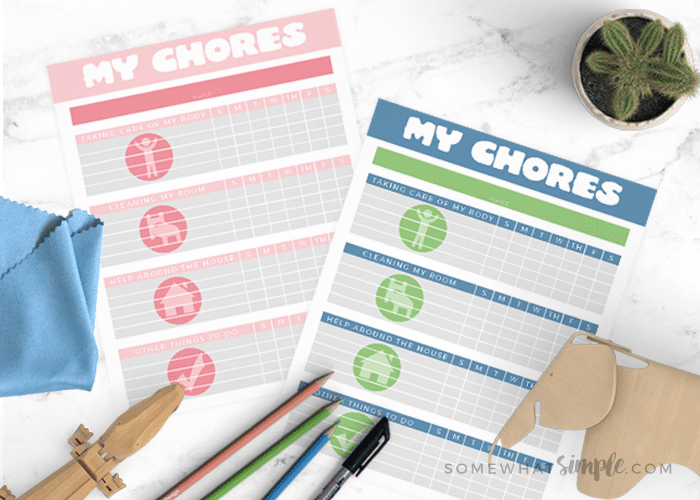 Chore Charts for Kids – Printable Chore Charts that really Work!