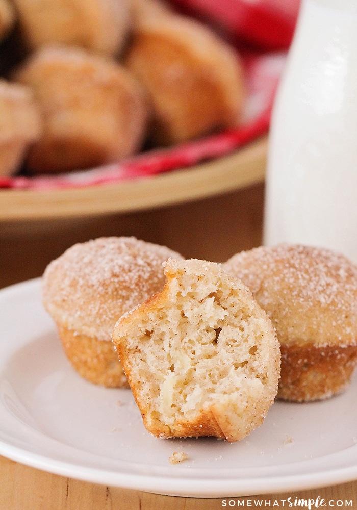 3 apple cinnamon muffins on a plate