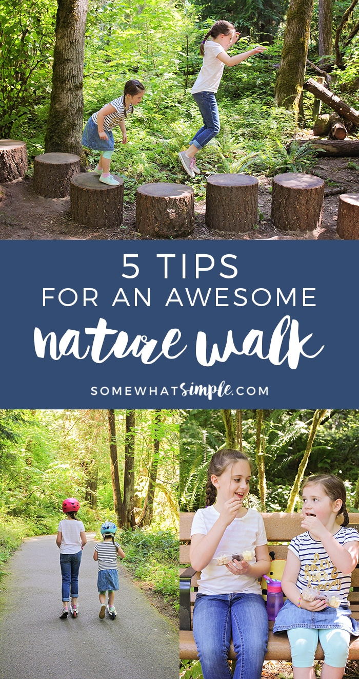 5 awesome tips for an amazing nature walk with your kids! Make getting outdoors fun and enjoyable for the whole family with these tips.