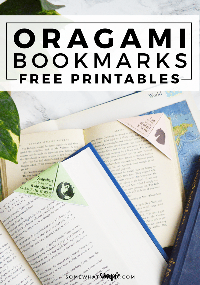 free printable origami bookmarks