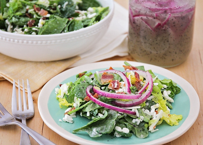 Spinach Salad with Onion Poppyseed Dressing