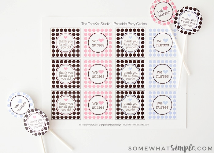 photo about Printable Nurses Week Games named Thank Yourself Presents - Printable Cupcake Toppers - Relatively Straightforward