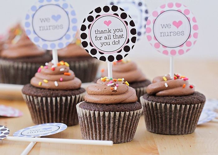 Thank You Gifts – Printable Cupcake Toppers