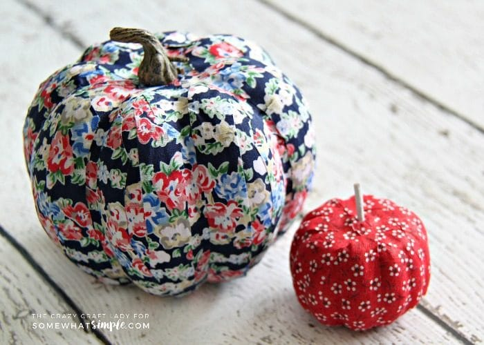 Fabric Tape Mini Pumpkins Craft