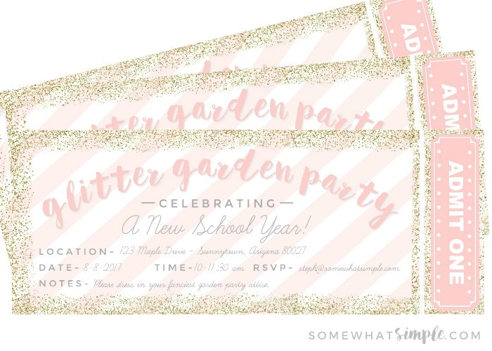 glittering garden party invites food party details somewhat