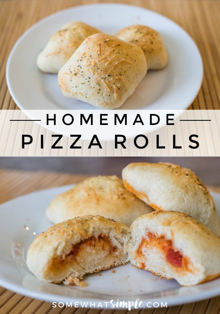 These pizza rolls are a tasty way to get the kids involved in making dinner! They are super simple to create, plus they are easy to adapt for the pickiest of eaters! via @somewhatsimple