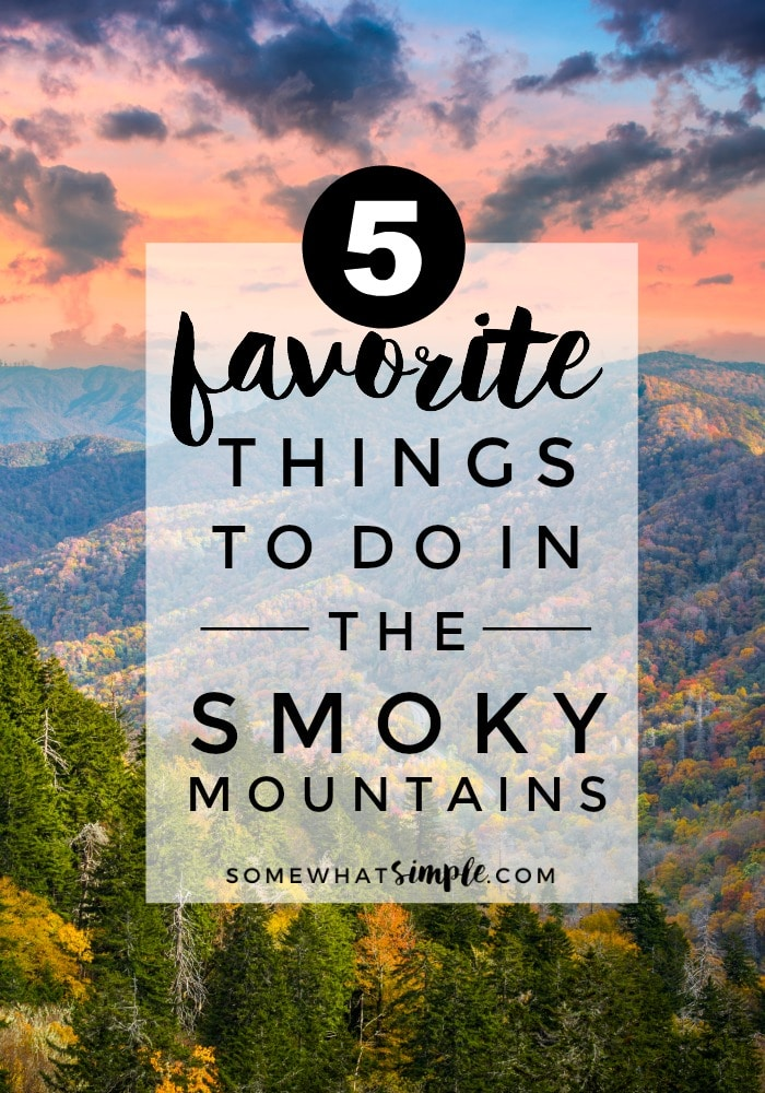If you want a relaxing, peaceful, and gorgeous vacation, you should definitely check out the Smoky Mountains!