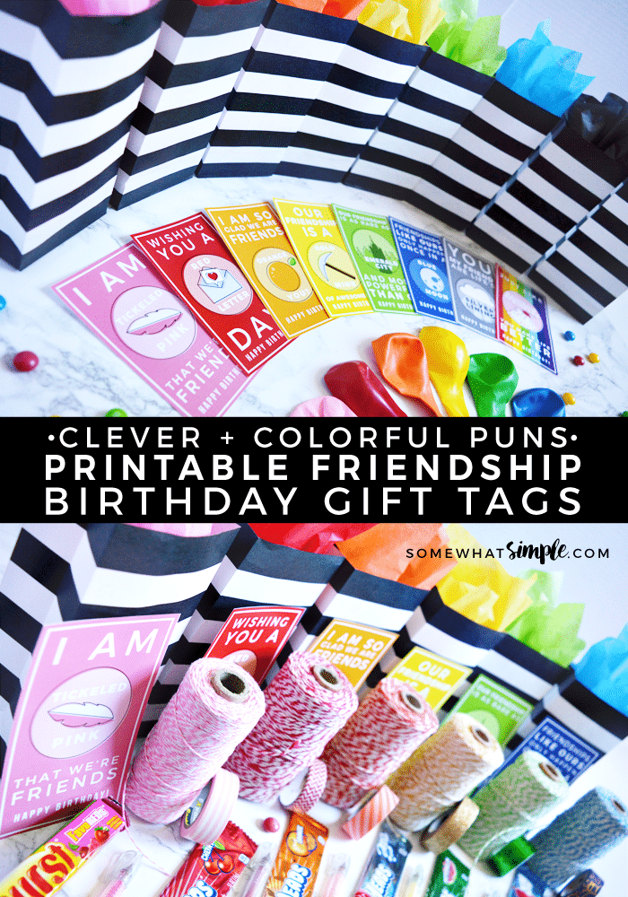 Friendship Birthday Gift Tags