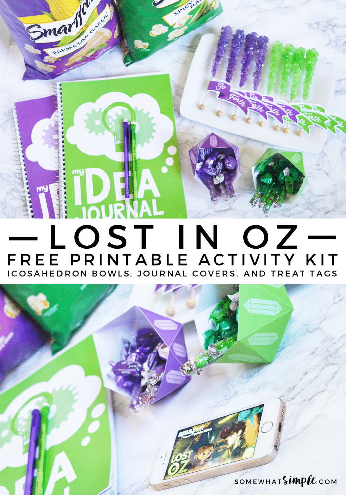 Inspire imaginations with our Free Printable Activity Kit, and Amazon's new series: Lost In Oz! Make geometric bowls, idea journals, and treat tags!