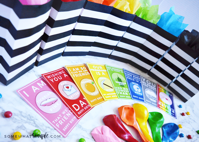 Clever + Colorful Friendship Birthday Gift Tags