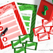 christmas wish list printables for Santa