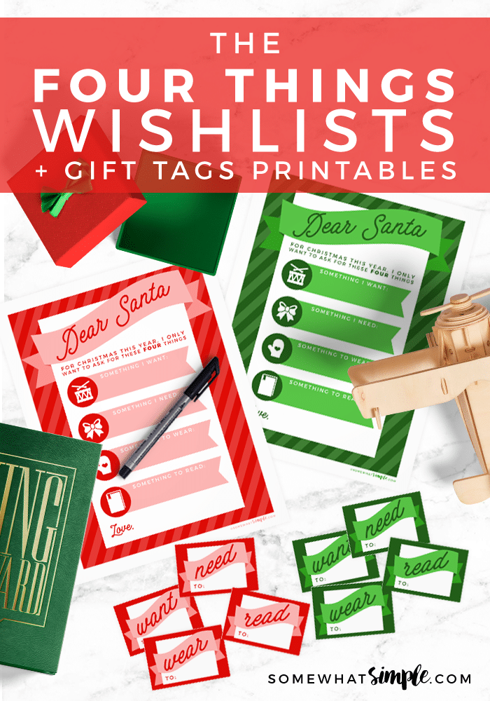 Free Christmas Wish List Printables and Gift Tags