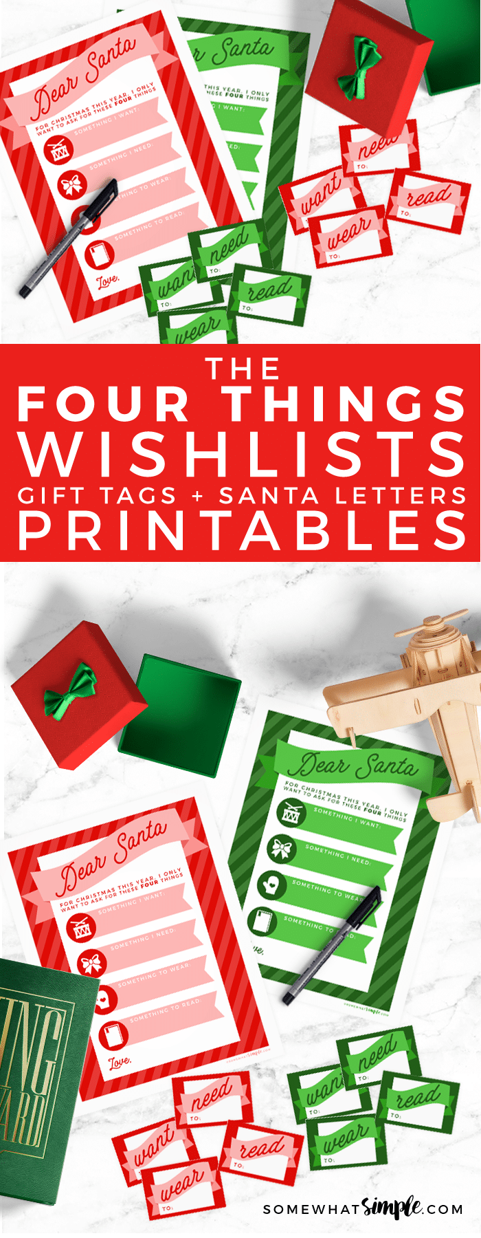 FREE Christmas Wish List, Santa Letters and Gift Tag Printables