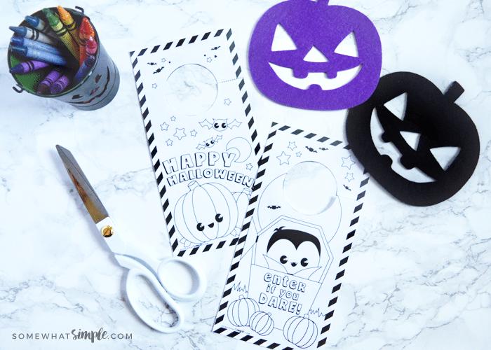 halloween door coloring pages - photo#8