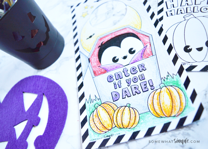 halloween door coloring pages - photo#39