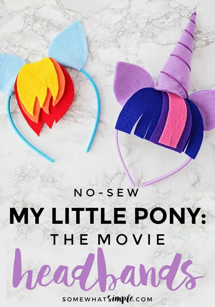 My Little Pony Headbands - No Sew! - Somewhat Simple 0a64f2b162a
