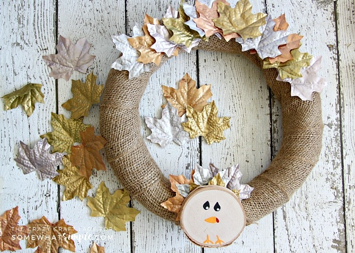 This Simple Turkey Wreath is a fun and easy DIY decor project that is perfect for Thanksgiving. Gather a few inexpensive dollar store supplies, and make this turkey wreath this fall.