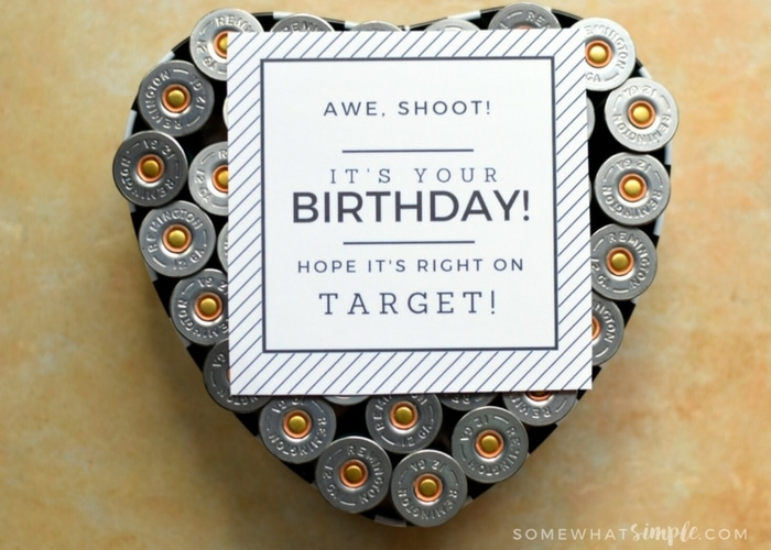 Manly Ammo Gift Idea + Free Printable Gift Tag