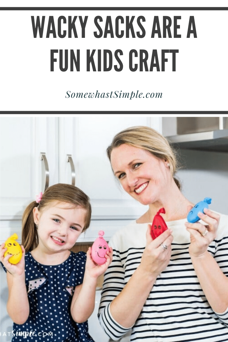 Wacky Sacks are DIY stress balls that are easy to make and provide my kids with HOURS of enjoyment! These homemade stress balls are made using regular balloons and Play-Doh and are a fun project my kids always love to make. #howtomakeastressball #diystressball #homemadestressball #howtomakeastressballwithaballoon #stressballsforkids via @somewhatsimple