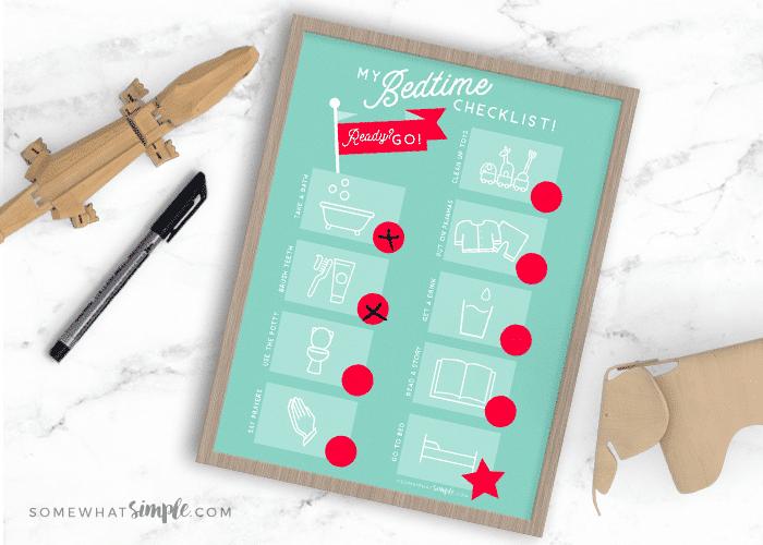 Night Routine + Printable Bedtime Routine Checklist