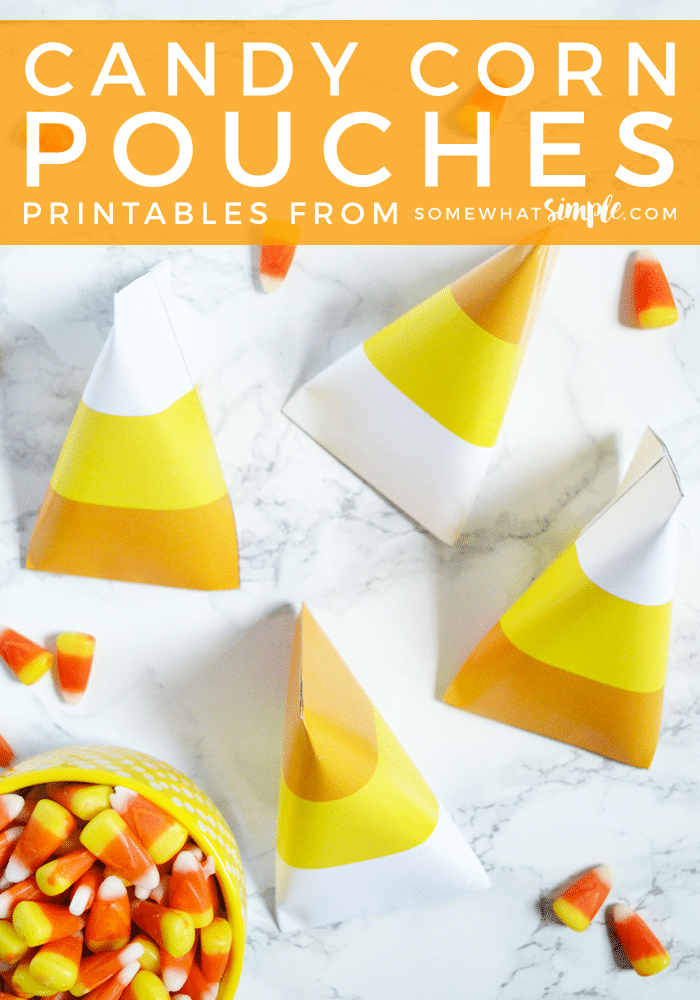 graphic relating to Candy Corn Printable called Sweet Corn Pouch Printables - To some degree Basic Printables