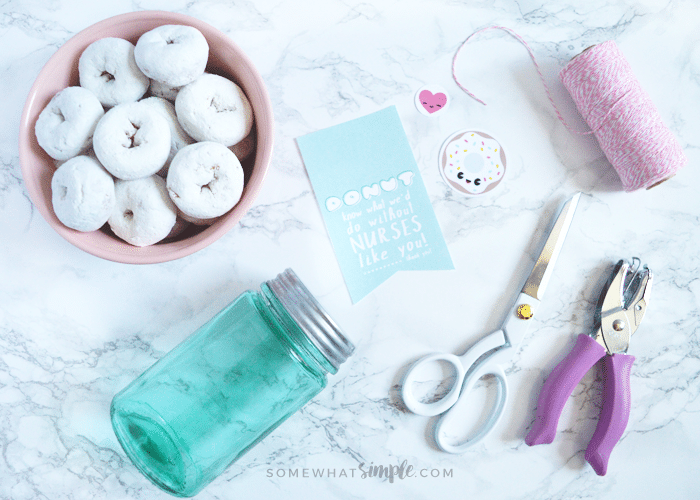 donut thank you gifts for nurses - supplies