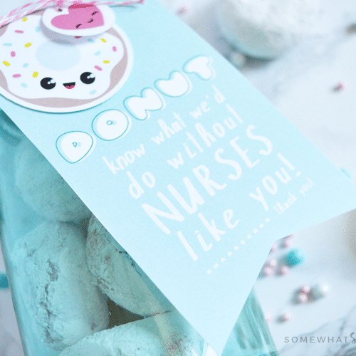 donut thank you gift tag - thank you gifts for nurses
